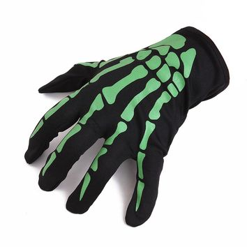 Halloween Skull Bone Skeleton Full Finger Gloves