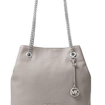 Michael Michael Kors Jet Set Leather Shoulder Bag