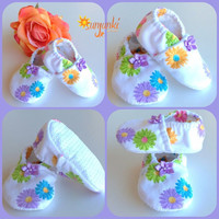 Baby Girl Booties Infant Girl Crib Shoe Slipper Girl Soft Sole Shoe Flower Shoes Non Slip Shoe