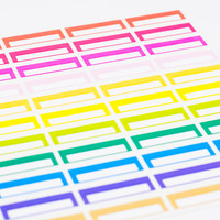 44 Colorful Blank Half-box Planner Stickers