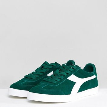 Diadora B.Original Trainers In Green at asos.com