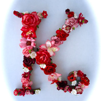 Custom Floral Letter Monogram - Paper Flower Initial in Your Choice of Colors