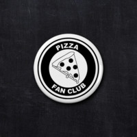 Pizza fan club button