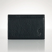 Polo Ralph Lauren Pebbled Leather Card Case - Black