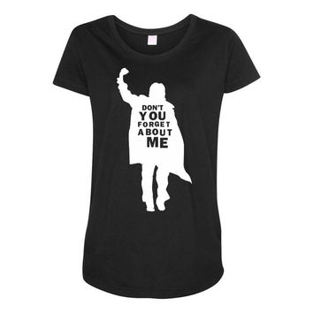 don't you forget about me 80's party music retro Maternity Scoop Neck T-shirt