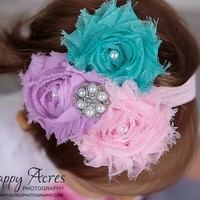 Shabby Chic Headband | From Bows To Toes