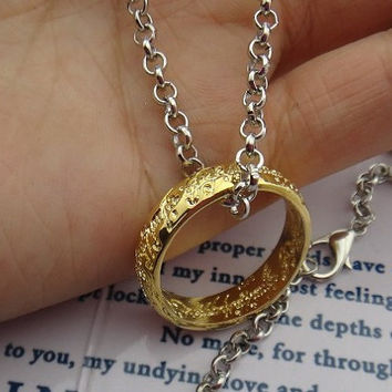 The Lord of the Rings Necklace, Precious Necklace,Charm Jewelry.Best Chosen Gift