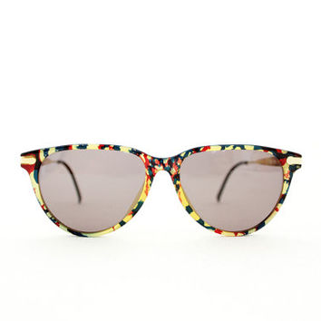 6a057b9833 Vintage Hugo Boss by Carrera 5173 colorful tortoise sunglasses
