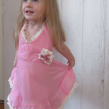 Pink baby dress, pink toddler dress, pink baby frock, toddler frock, baby ruffle dress, toddler sundress