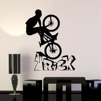 Vinyl Wall Decal Bike BMX Bicycle Teen Room Sports Stickers Unique Gift (ig4001)