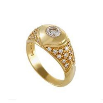 Bulgari Yellow Gold Diamond Ring