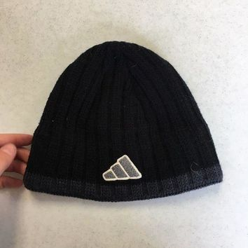 ESBONC. BRAND NEW ADIDAS BLACK BUCKET KNIT HAT YOUTH FIT SHIPPING