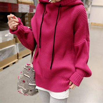 Oversized Hooded Sweater 2 Colors