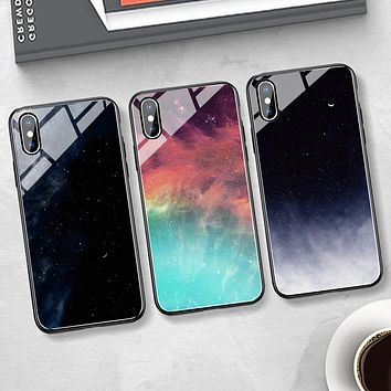 Starry Sky Fashion iPhone Phone Cover Case For iphone 6 6s 6plus 6s-plus 7 7plus 8 8plus iPhone X XR XS XS MAX
