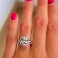 Princess's Jewel Rhinestone Statement Ring