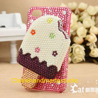 3D iPhone 4 case iPhone 4S case and iPhone 5 case in handmade-Icecream