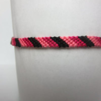 Skater Love Candy-Cane Friendship Bracelet