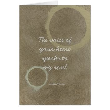 The Voice Of Your Heart - Circles Card