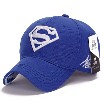 NEW Brand SUPERMAN Polo Snapback Mens Golf Baseball Caps Women Fitted Adjustable Hat Gorras Planas Casquette Chapeau Homme