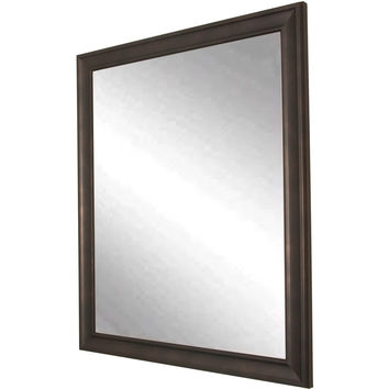 "Brandt Works Clouded Bronze Wall Mirror BM013M 25""x30"""
