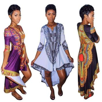 New Africna dashiki dress bursts of African Dashiki clothes folk casual dress