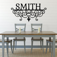 Family Name Decal - by Decor Designs Decals, Personalized Family Wall Decal Name Monogram - Vinyl Wall Decal Family Wall Decal Wedding, Wall Decal, Sticker - AU29