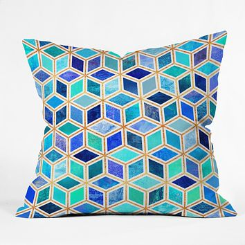 Elisabeth Fredriksson Magic Blue Throw Pillow