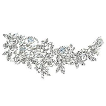 Flower Bridal Hair Comb Headpiece Wedding Hair Accessories For Party