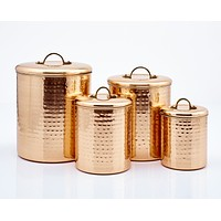 Décor Hammered Copper Pantryware Collection by Old Dutch International #1 Best Seller