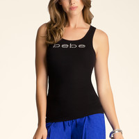 bebe Womens Ribbed Tank