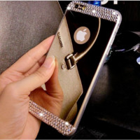 Luxury Diamond Mirror Soft Gel Cell Phone Case For Apple IPhone