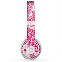 The Pink & White Paisley Pattern V421 Skin for the Beats by Dre Solo 2 Headphones