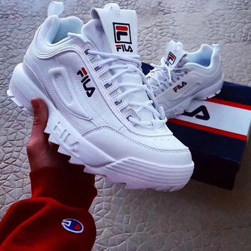 FILA Fashion Casual Running Sport Casual Shoes Sneakers White G-XYXY-FTQ