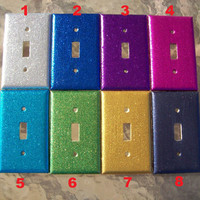 MADE TO ORDER Glitter Single Light Switch Cover by DenimAndStuds