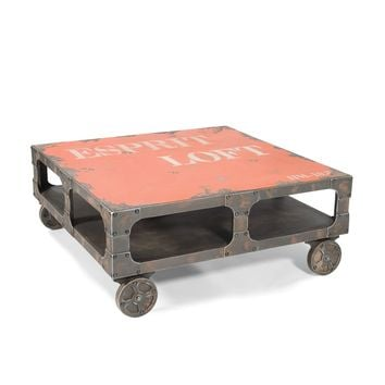 Loft Industrial Coffee Table Orange