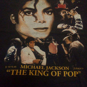 Michael Jackson The King of Pop band vintage tour 58s-09 In Loving Memory