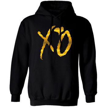 New XO OWL Ovo Gold Unisex Hoodie Hoody hooded Xo Ovoxo Xo The Weeknd Thur Drake Thicken Fleece M-2XL