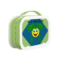 Cute Frog on Blue and Green Lunchbox