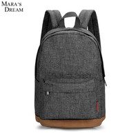 Mara's Dream 2016 Hot sale Men Male Canvas College School Student Backpack Casual Rucksacks Travel Bag