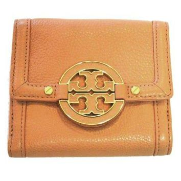 Tory Burch Amanda Double Snap Wallet Aged Vachetta