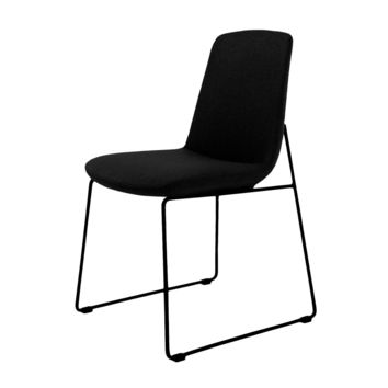 Ruth Dining Chair Black (Set Of 2) 100% Polyester Steel