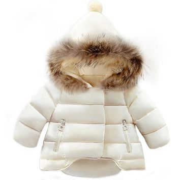 Girl's Winter Cotton-Padded Coat