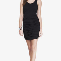 BLACK RUCHED TANK DRESS from EXPRESS