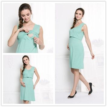 Summer Fashion Maternity Dresses Modal Maternity Clothes Nursing Dress For Pregnant Women