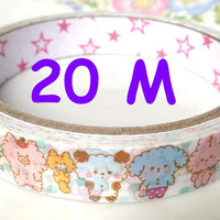Marshmallow animal tape rainbow animal friends tape sticker cute panda bear rabbit cat pig forest party colorful animal world kawaii tape