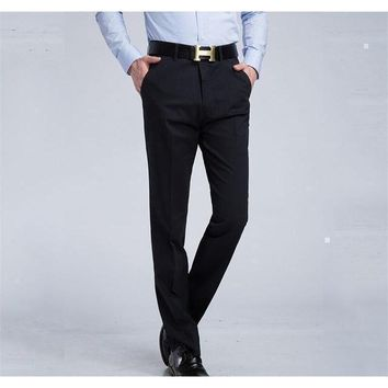 Men's Black Slim Fit Dress Pants - Multiple Sizes