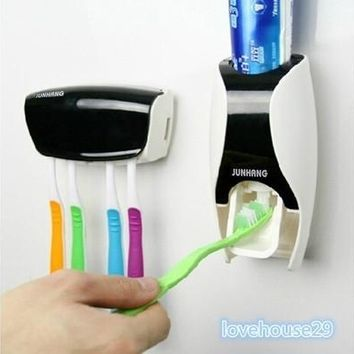 Automatic Toothpaste Dispenser and Tooth Brush Holder Set [8045602631]