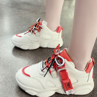 New sport single shoes with thick middle heel, deep mouth and round head