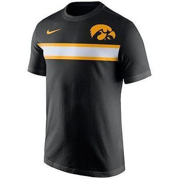 Iowa Hawkeyes Men's Shirt Nike Team Stripe T-Shirt Black