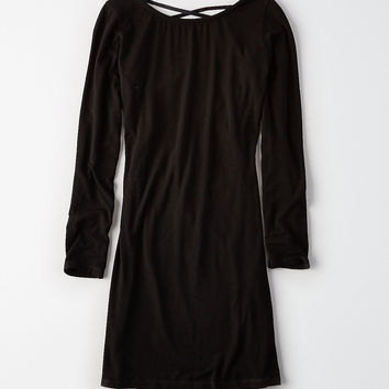 Don't Ask Why Tie Back Dress, Black